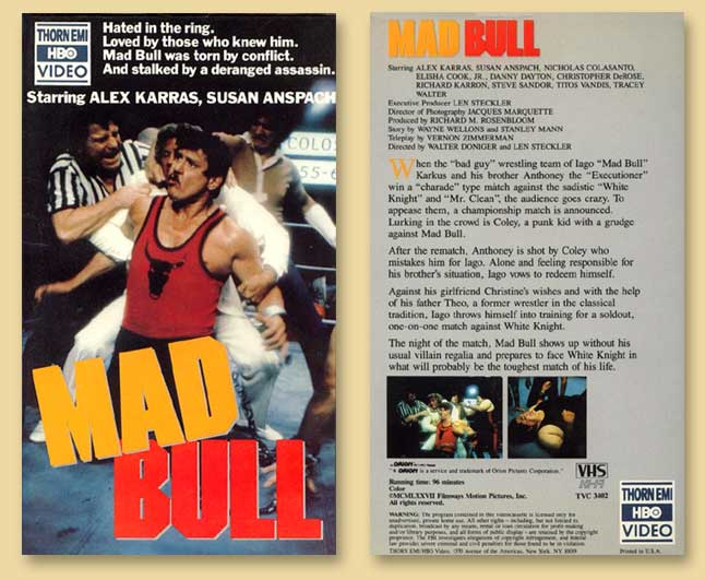Mad Bull, a movie by Vernon Zimmerman